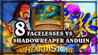 8 Facelesses VS Shadowreaper Anduin 🍀🎲 ~ Kobolds and Catacombs ~ Hearthstone Heroes of Warcraft