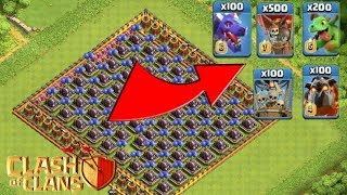 💥Who can survive this difficult trap on COC💥 ?? Maze base vs air troops [private server]