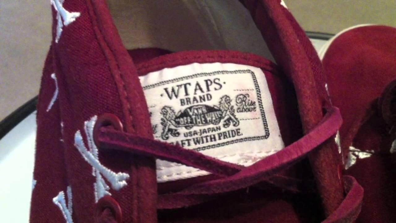 VANS Syndicate x w taps Burgundy Pack   comparison - Sk8-Hi OG