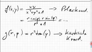 23B.1 Funktion in Polarkoordinaten bzw. kartesischen Koordinaten