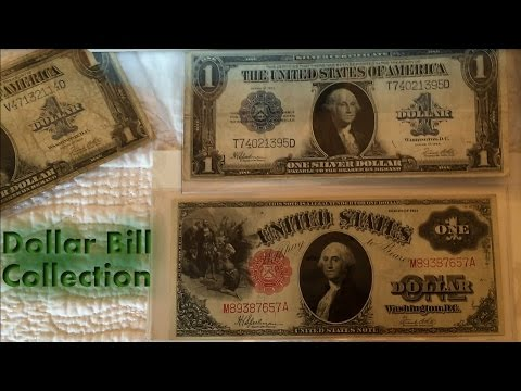United States Dollar Collection Video (Currency Collection History of the $1 Dollar Bill)