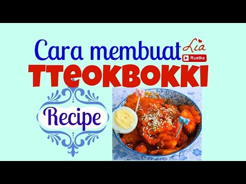 Cara Membuat Tteokbokki | Korean Spicy Rice Cake Recipe (ENG SUB)