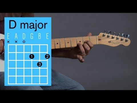 How to Play a D Major Open Chord | Guitar Lessons - YouTube