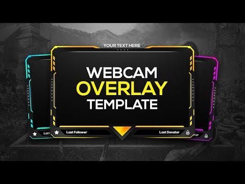 Colorful Gaming Webcam Overlay Template | Free Download | FezoDesigns