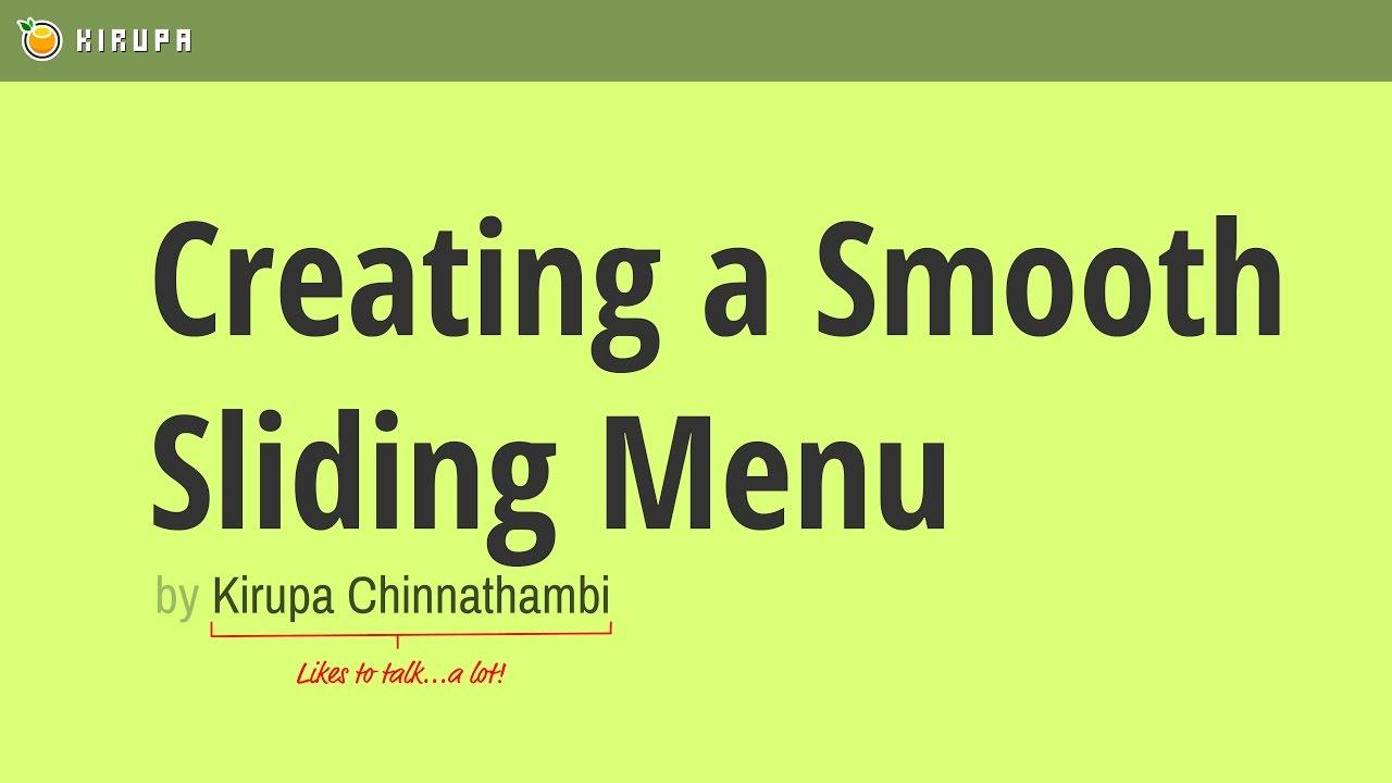 Creating a Smooth Sliding Menu
