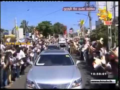 Pope Francis In Sri Lanka - Pope's Motorcade Was Added to Colombo from Katunayake - 2015-01-13