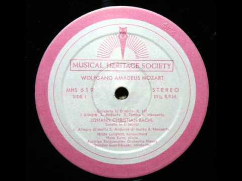 JC Bach / Hans Kann, 1964: Sonata in D major, Op. 5, No. 2 - Complete