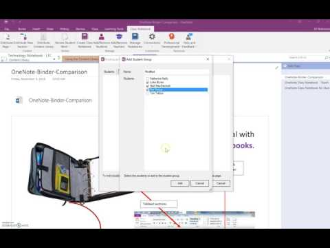 OneNote Class Notebook - Distributing Digital Content to GROUPS of Students
