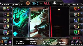 Video SUPA HOT CREW vs Alliance | S4 EU LCS Summer 2014 Week 9 Day 2 | SHC vs ALL W9D2 G3 Full Game HD download MP3, 3GP, MP4, WEBM, AVI, FLV Oktober 2018