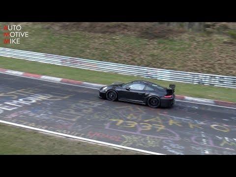 2018 Porsche 991 GT2 RS spied testing at the Nürburgring