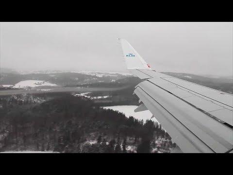 GO AROUND! KLM ERJ-175 Amsterdam-Sandefjord Safety, Takeoff, Infight, Landing
