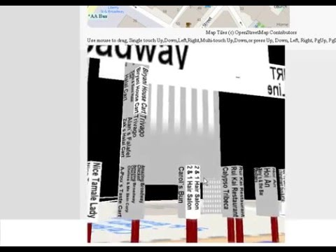 CubicPower-3D New York Maze Map-E Broadway (Mark Hsia's Channel)