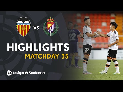 Highlights Valencia CF vs Real Valladolid (2-1)