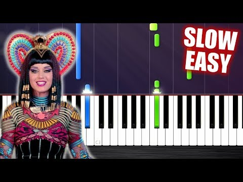 Katy Perry - Dark Horse - SLOW EASY Piano Tutorial by PlutaX