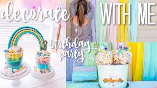 Decorate with Me | Rainbow Girls Birthday Party Decor Ideas 2019