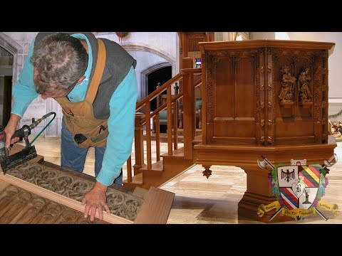 wood pulpit restoration youtube