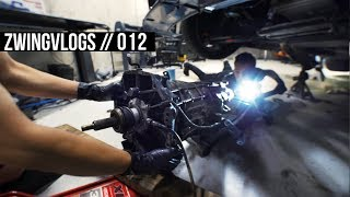 We removed the E36's T56 Magnum transmission // 012
