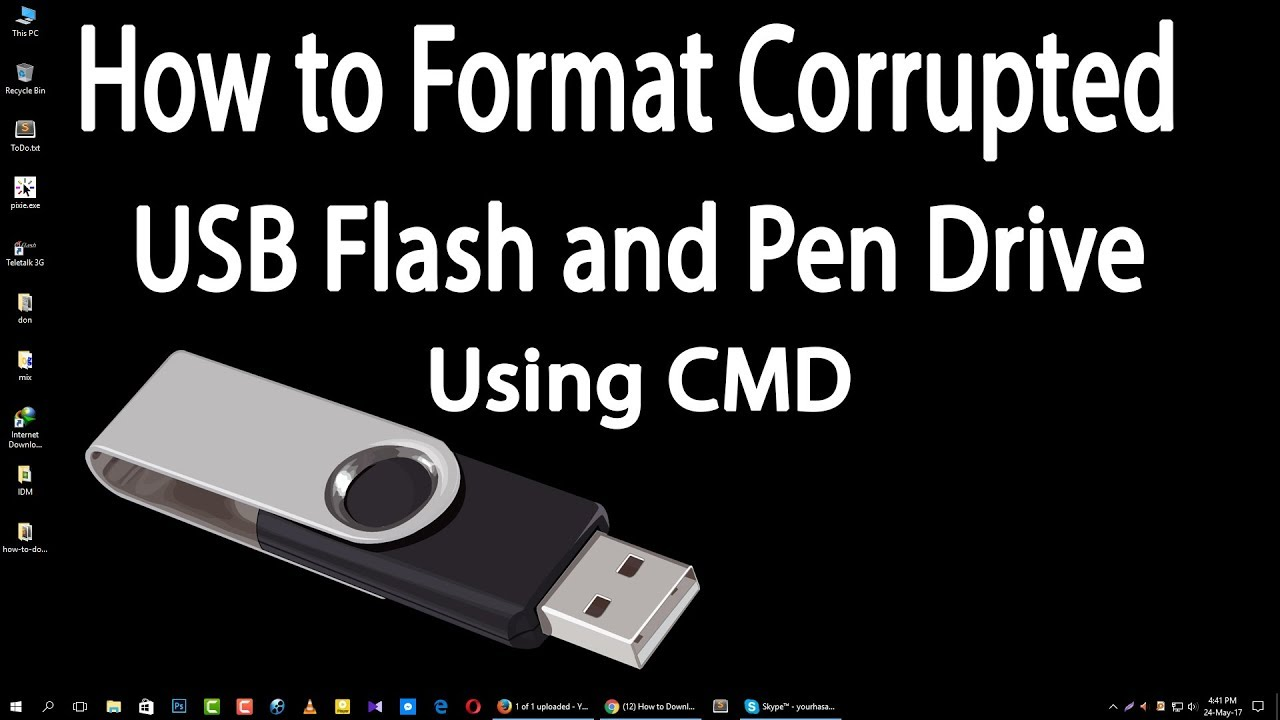 How to format a USB flash drive in NTFS