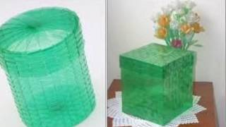 Como fazer cestas de garrafas pet