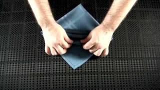 Napkin Folding - The Diagonal Buffet Server