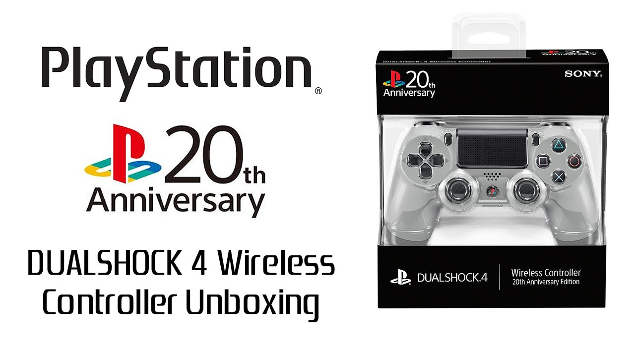 Playstation 20th Anniversary Dualshock 4 Wireless Controller Unboxing Amp Review