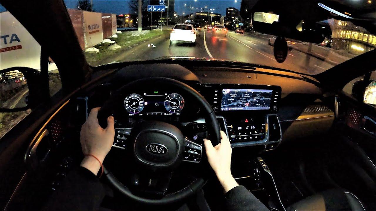 2021 KIA Sorento TX 202HP - Night POV Drive & Fuel ...