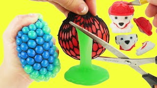 LEarn whats inside squishy mesh slime balls