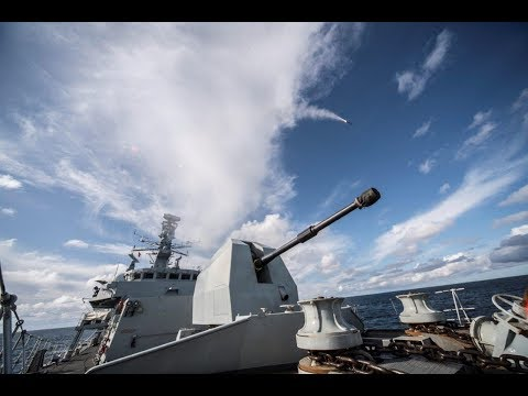 Missile firing from HMS Montrose