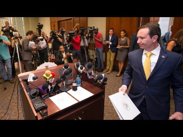 Louisiana's attorney general, Jeff Landry, ruled out criminal charges Tuesday against two white Baton Rouge police officers in the fatal shooting of Alton Sterling outside a convenience store. (The Associated Press)