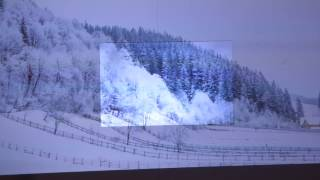 BRIGHTER THAN WHITE OUR SILVER PROJECTION SCREEN WITH 0% HOT SPOTTING!