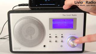 Livio Radio Quick  featuring Pandora  Demos Part 11: Connecting to mp3 player or mobile phone