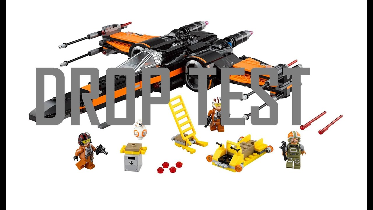Lego Star Wars Poes X Wing Drop Test 75102 Youtube Poeamp039s Fighter