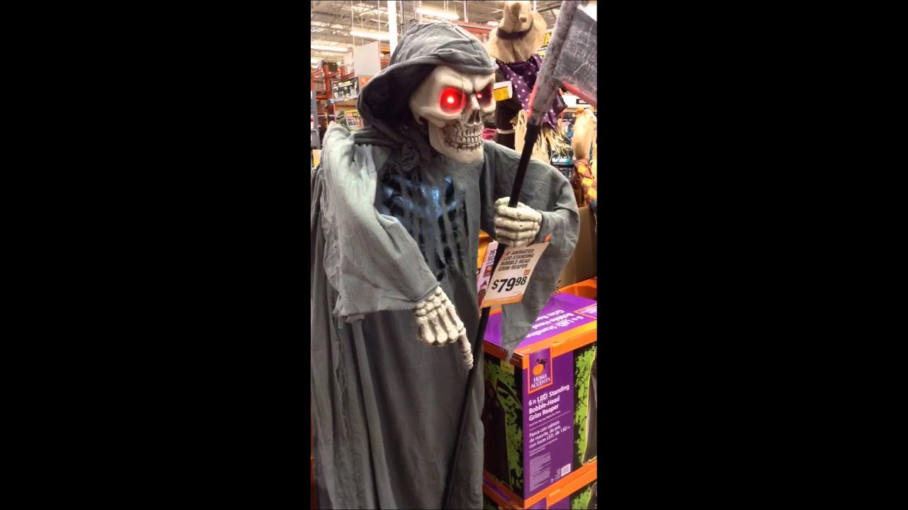 Home Depot Halloween 2015 6 Ft Bobble Head Grim Reaper