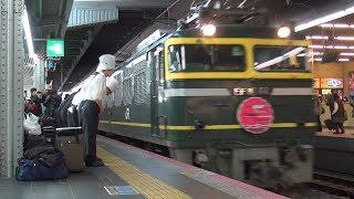 ♯15【鉄道】夜行列車 寝台特急トワイライトエクスプレス大阪入線 汽笛あり