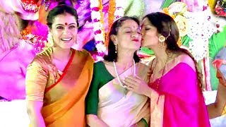 Kajol With Family At Durga Puja 2017 Full Video HD