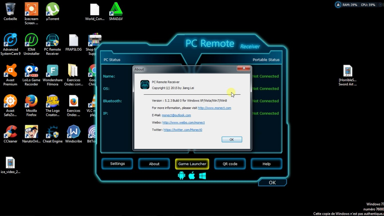 Best pc remote reciever MONECT