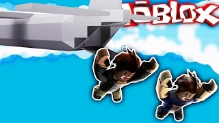 JUMPING OUT OF A PLANE IN ROBLOX!!