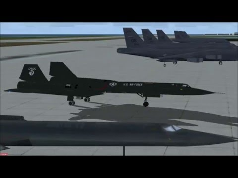 FSX Spectacular landing at Diego Garcia airport with Lockheed SR71