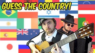 stereotypical music from 25 countries (..can you guess them??)