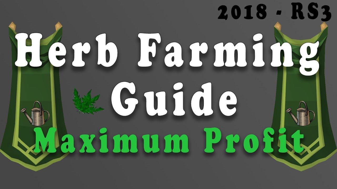 Runescape 3 Herb Farming Guide 2018 Max Profit Youtube