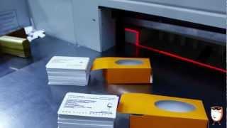 Смотреть видео Печатанье визиток