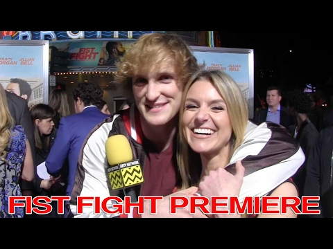 Logan Paul Reveals Who His Valentine Is - Fist Fight Premiere