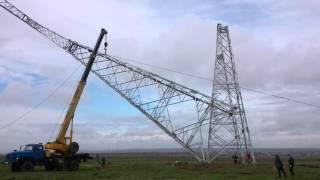 uydirma 500 kV Kuban-Taman kuch Ko'prik qurish uchun