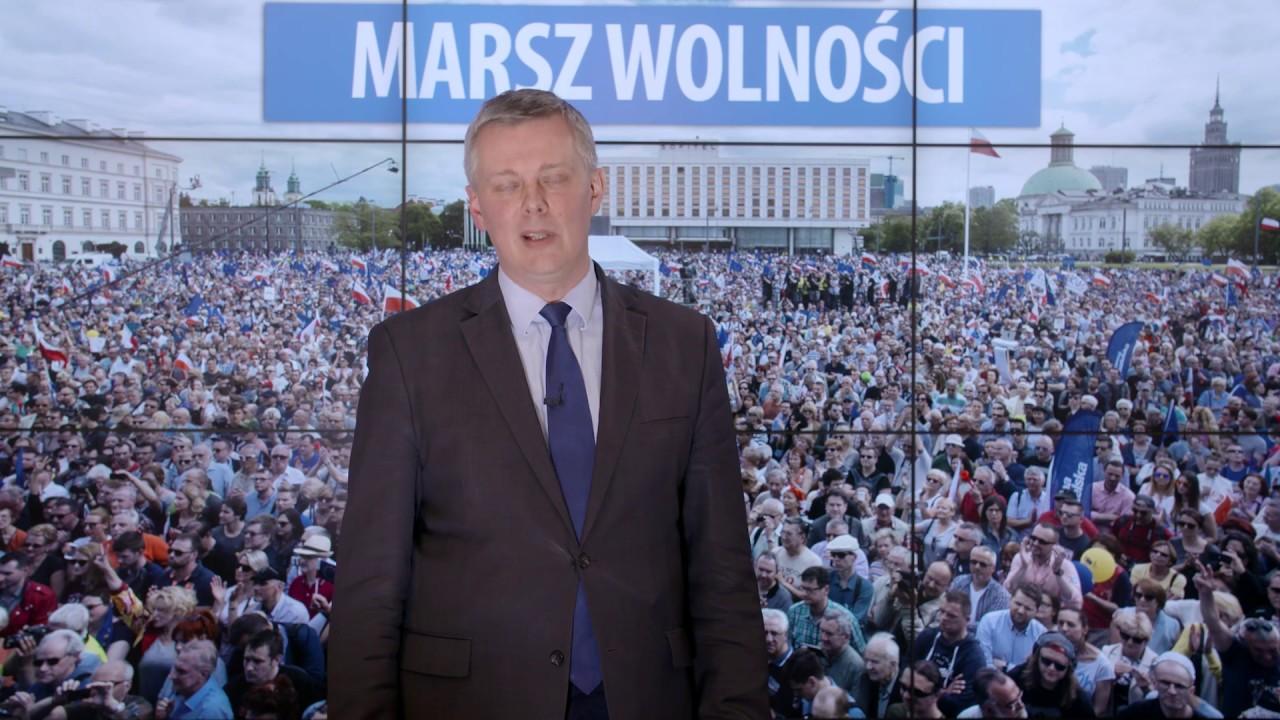Tomasz Siemoniak zaprasza na #MarszWolności 6 maja