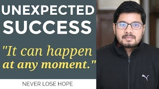 MANIFESTATION #108: Sudden & UNEXPECTED SUCCESS | Law of Attraction Success Story | Motivation