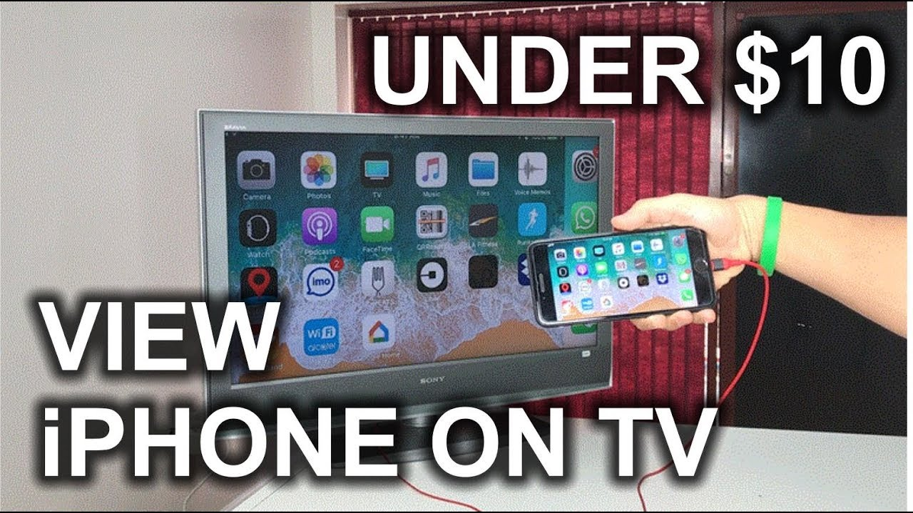 How To View Your Iphone On A Tv Hdmi Cable Youtube Lightning Digital Av Lcd Kabel X 8 7 6 5 Ipad 3 4 Ipod