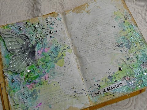 Art Journal for Lindy's Gang, mixed media process