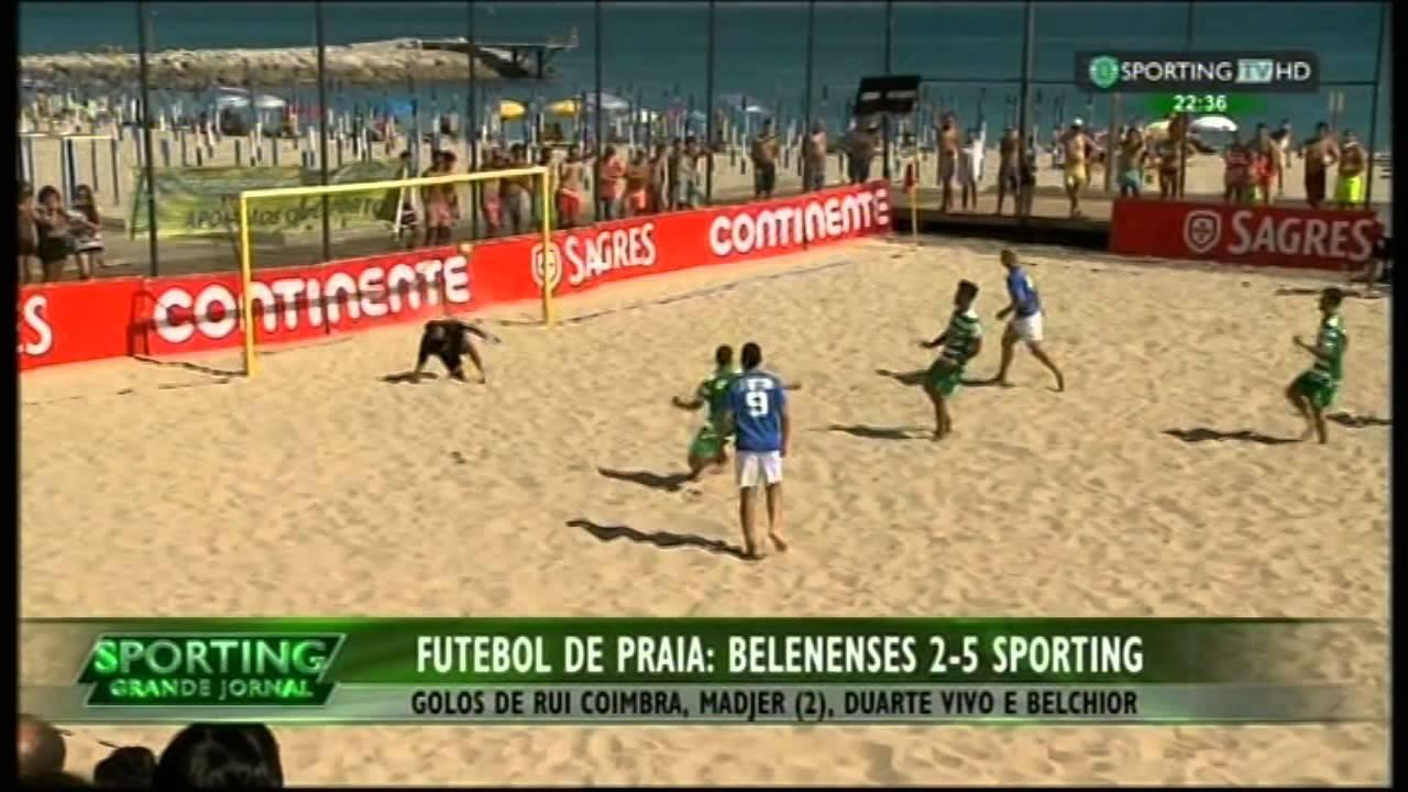 Futebol de Praia :: 01J :: Belenenses - 2 x Sporting - 5 de 2015 Divisão de Elite