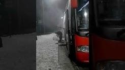 Пожар в автобусе inkeriline 10.12.17 ПТЗ-ХСЛ