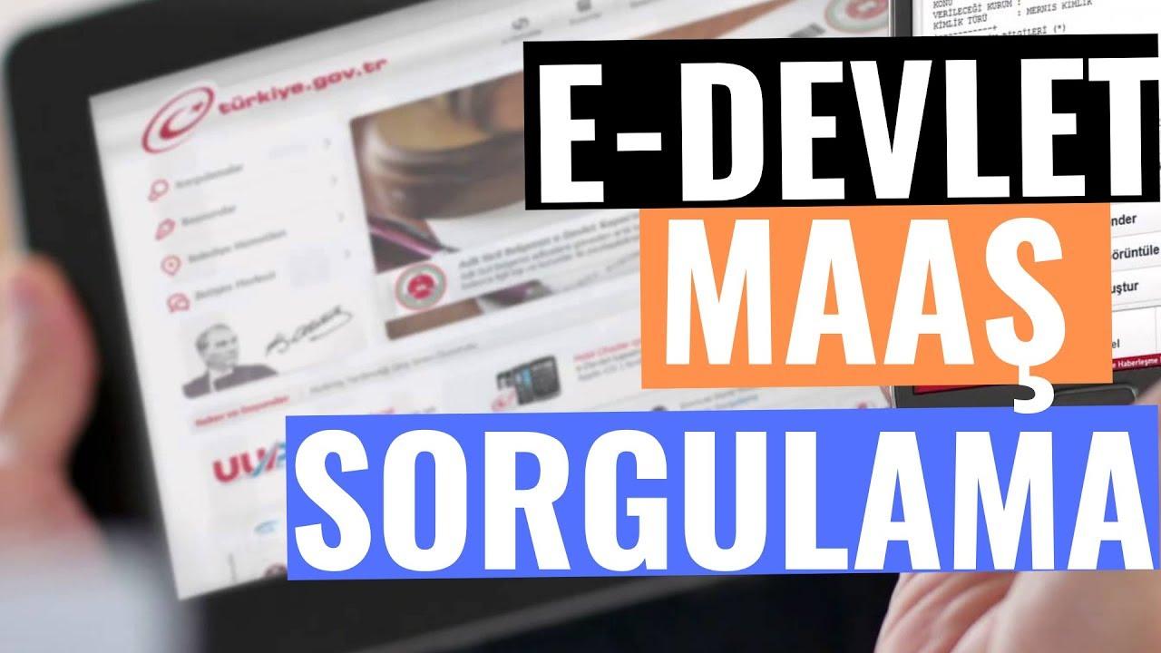 E-DEVLET MAAŞ SORGULAMA - BORDRO